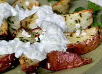 Roasted Red Potatoes with Raita