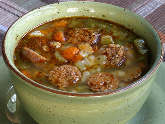 Spicy Sausage, Escarole & White Bean Stew Recipes — Dishmaps